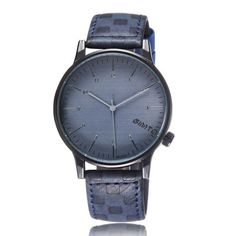 Luxury Brand Unisex Stainless Steel Dial Student Fashion Watch With Leather Band