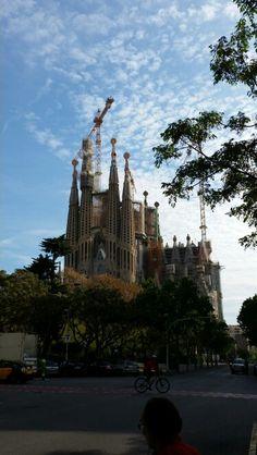 First view on Sagrada Familia