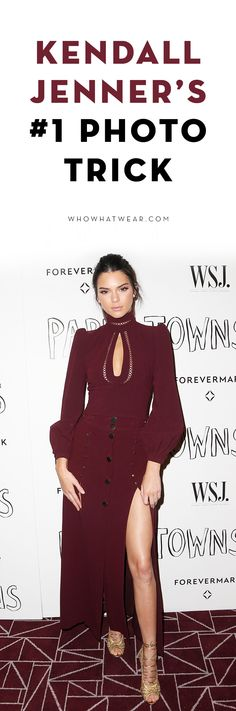 Learn Kendall Jenner's posing trick to take a better photo
