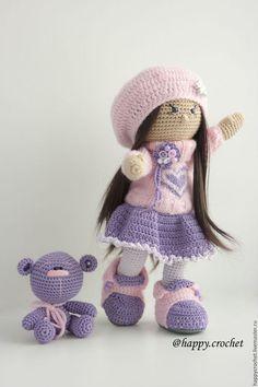 Коллекционные куклы ручной работы. Ярмарка Мастеров - ручная работа. Купить В сиренево-розовом настроении. Handmade. Сиреневый