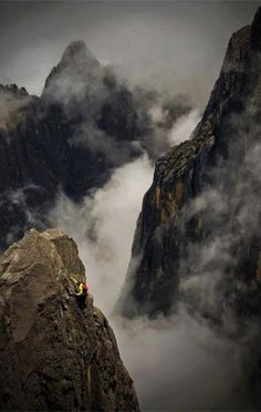 Alex Honnold soloing above the clouds on Mount Kinabalu , from Iryna