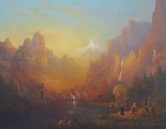 """The Lord of the Rings Blog (Joe Gilronan Tolkien Art): New painting Moria """"Do not disturb the water"""""""
