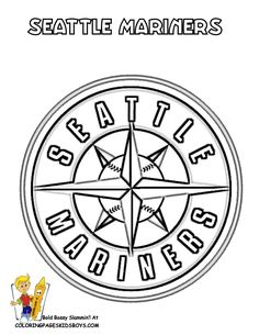 Seattle Mariners Logo Coloring Page Super Coloring