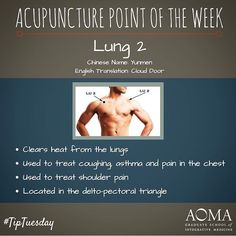 #TipTuesday: #Acupuncture Point of the Week, Lung 2! #integrativelife