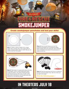 Planes Fire and Rescue Birthday Party SmokeJumper Game {Free Printable} #FireAndRescue #Disney #Birthday