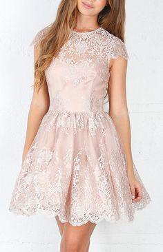 Floral Fantasy Dress Baby Pink Lace Dress $99  #scarletnightb  http://www.facebook.com/Scarlet.Night.Boutique
