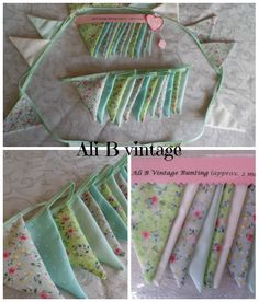 BUNTING vintage greens - The Supermums Craft Fair