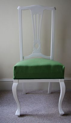 After photo of the high backed chair
