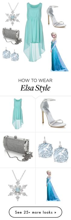 """DISNEYBOUND: ELSA"" by mizaelp on Polyvore featuring Duck Farm, Stuart Weitzman and Kate Spade"