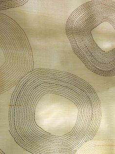 Circular forms of different sizes stitched with running stitch by maya matthew