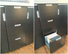 Keep your paperwork organized and secure in a GALANT file cabinet. Soft-close drawers and a combination lock, plus at 10-year warranty.