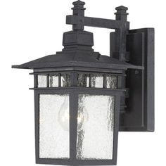 Nuvo Lighting 604953 Cove Neck One Light Wall LanternArm Down 100 Watt A19 Max Clear Seeded Glass Textured Black Outdoor Fixture -- Click on the image for additional details. (Note:Amazon affiliate link)