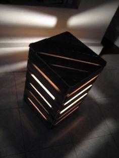 light pallet2 Pallet cube light in pallet furniture  with pallet Light Cube