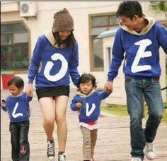 LOVE: Adorable Matching Shirts Family Photo <3