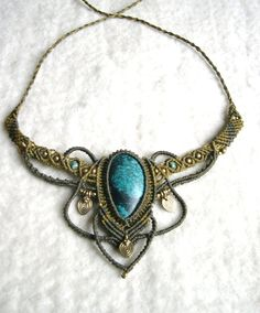 Turquoise Necklace by Magic-Knots on deviantART