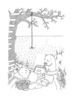 Genießer genießen Tage am See #lake #illustration
