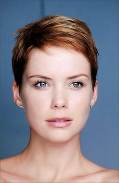 Love this pixie cut and color!