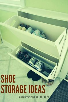 47 Awesome Shoe Rack Ideas in 2020 (Concepts for Storing Your Shoes) - dreamwe. Shoe Storage, Shoe Racks, Storage Chest, Leather Recliner Chair, To Go, Shoe Organizer, Your Shoes, Dreaming Of You, Entryway
