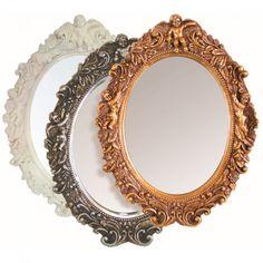 Ovaler #Spiegel  im #barockstil verschiedene Farben 43 x 50 x 7 cm kaufen bei Mobego