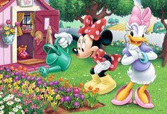 Trefl Puzzle 160 Teile Disney: Minnie Mouse beim Blumengießen (15328) Daisy in Spielzeug, Puzzles & Geduldspiele, Puzzles | eBay Mickey Mouse Kunst, Mickey Mouse Cartoon, Mickey Mouse And Friends, Minnie Mouse Pictures, Disney Pictures, Disney Cartoon Characters, Disney Cartoons, Disney Love, Disney Magic