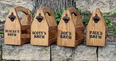 PERSONALIZED Wooden BEER CARRIER Beer Caddy by AbsoluteImpressions
