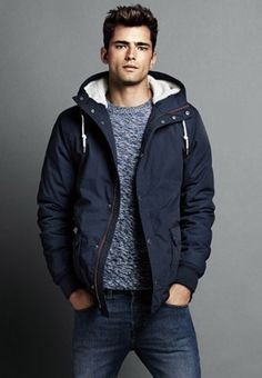 Sean O'Pry in ads for H&M....and oh boy! Not only great fashion sense butt great eyes...