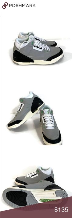 Nike Air Jordan Retro 3 GS Light Grey Chlorophyll Brand new without  original box Women s f1288f1bf