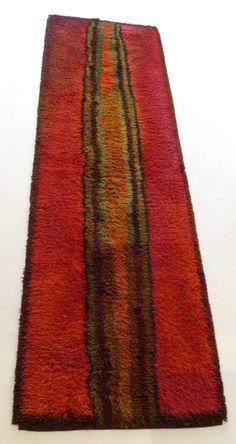 Ritva Puotila; Wool 'Hefaistos' Rya Rug for the Residence of Martha and Ted Nierenberg (Founders of Dansk), c1960.