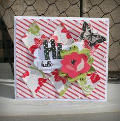 October Afternoon sketchy thursday-- argyle love - card by Becky Novacek