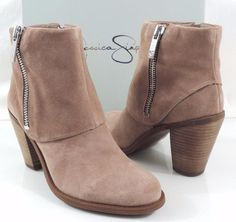 7785fe2caafa Women s Shoes Jessica Simpson CAUFIELD Ankle Boots Booties Suede Taupe Size  8  JessicaSimpson  AnkleBoots