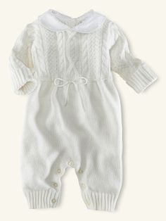 Cotton Cable Coverall - Layette One-Pieces & Sets - RalphLauren.com Baptism outfit