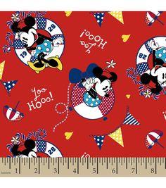 Disney Minnie Mouse Nautical Cotton Fabric