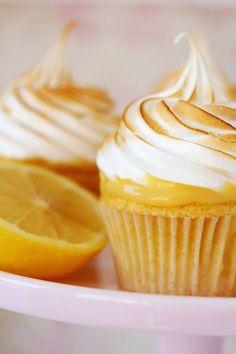 Cupcakes de merengue y limón
