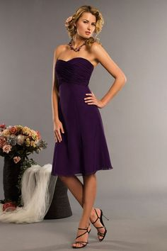 Charming+sleeveless+A-line+bridesmaid+dress $156.00