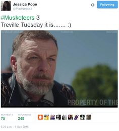 The Musketeers - Series III BtS filming via Jessica Pope's Twitter (Treville)