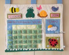 Panô - calendário em feltro e tecido