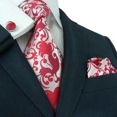 "Landisun 86F Paisleys Mens Silk Tie Set: Necktie+Hanky+Cufflinks Silver Red, 3.25""Wx59""L Landisun http://www.amazon.com/dp/B00NXE5JSS/ref=cm_sw_r_pi_dp_JHaEub1AZQB7V"