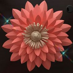 Image may contain: flower Large Paper Flowers, Paper Flowers Diy, Flower Crafts, Fabric Flowers, Paper Decorations, Flower Decorations, Diy Papier, Paper Flower Tutorial, Paper Flower Backdrop
