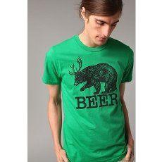 Beer Tee (bear + deer = beer) $24.00