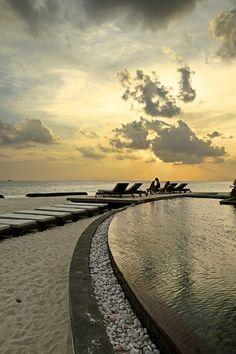 Sunset in Moofushi Island, Maldives