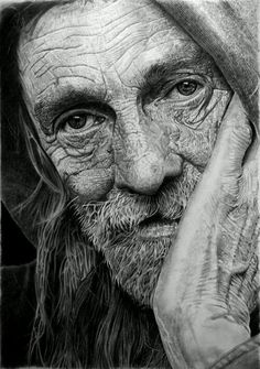 Pencil Portrait Mastery - Brilliant Portrait of an Old Man! The Technique and Talent are Phenomenal! By DinoTomic - Discover The Secrets Of Drawing Realistic Pencil Portraits Portrait Au Crayon, Pencil Portrait, Realistic Pencil Drawings, Art Drawings, Drawing Portraits, Charcoal Drawings, Amazing Pencil Drawings, Graphite Drawings, Animal Drawings