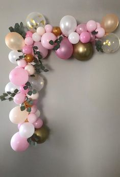 120 pcs Girl Baby Shower Balloon Garland Kit-Shades of Pink,Ivory,Blush and Birthday Pink Party Decoration - DIY Balloon Arch Pink Party Decorations, Birthday Balloon Decorations, Birthday Balloons, Balloon Arch Diy, Balloon Garland, Balloon Pump, Girl First Birthday, Diy Birthday, Gold Balloons