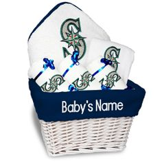 Seattle #Mariners Personalized Baby Basket - Medium $124.99