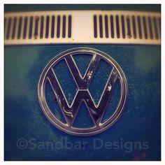 Blue Dream VW bus on Etsy, $8.00 #SandbarDesigns #VWBus #VW #BusPics #Volkswagen #BusyDreamin.com