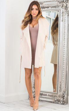 Showpo Kingdom Awaits coat in beige - 6 (XS) Coats