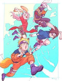Kakashi, Naruto, Sakura and Sasuke
