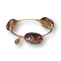 $28.99 Brown and white marble stones on a gold wired bracelet http://piperlillies.com