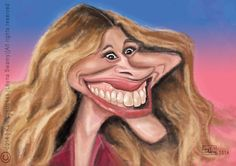 Caricature - Julia Roberts