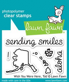 Lawn Fawn - Clear Acrylic Stamps - Wish You Were Here, Too at Scrapbook.com