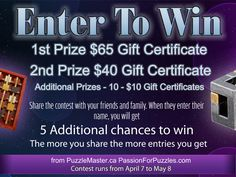 Passion for Puzzles » Contest